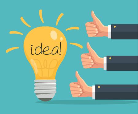 49160400 good idea concept vector flat illustration