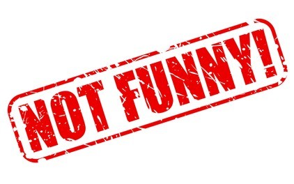 not funny red stamp text 260nw 303316772