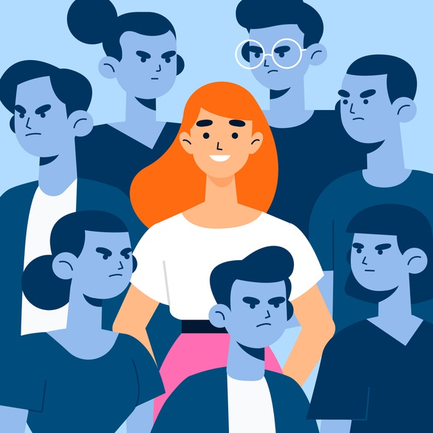 illustration concept with smiling person crowd 52683 30928